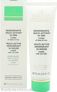 Collistar Multi-Active 24H Deodorant Cream 75ml - Sensitive Skin