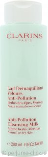 Clarins Anti-Pollution Cleansing Milk with Alpine Herbs 200ml - Dry/Normal Skin