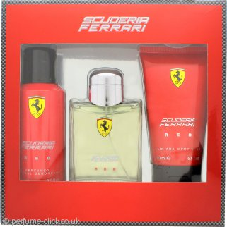 Ferrari Scuderia Ferrari Red Gift Set 125ml EDT + 150ml Deodorant Spray + 150ml Hair & Body Wash