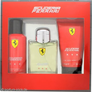 Ferrari Scuderia Ferrari Red Geschenkset 125ml EDT + 150ml Deodorant Spray + 150ml Hair & Body Wash