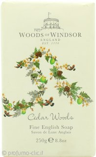 Woods of Windsor Cedar Woods Fine English Sapone 250g