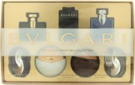 Bvlgari The Iconic Miniature Collection Gift Set 7 x 5ml - Omnia Amethyste EDT + Jasmin Noir EDP + Aqva Divina EDT + Man in Black EDP + Aqva Amar EDT + BLV Pour Homme EDT + Omnia Crystalline EDT