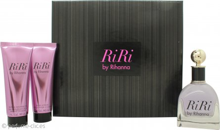Rihanna RiRi Set de Regalo 100ml EDP + 90ml Loción Corporal + 90ml Gel de ducha
