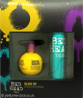 Tigi Bed Head Glow Up Gift Set 240ml Motor Mouth Mega Volumizer + 340ml Masterpiece Massive Shine Hairspray