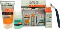 L'Oreal Men Expert Hydra Energetic Gift Set 50ml Fresh Extreme Anti-Perspirant Deo Roll-On + 50ml Charcoal Wash + 20ml Anti-Fatigue Moisturiser + 50ml Anti-Irritation Shaving Foam