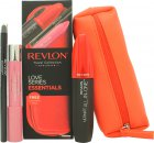 Revlon Love Series Essentials Gift Set 1 x All-in-One Mascara + 1 x Balm Stain + 1 x ColorStay Eyeliner + Cosmetic Bag