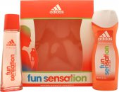 Adidas Fun Sensation Gift Set 75ml EDT + 250ml Shower Gel