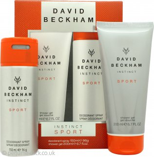 David Beckham Instinct Sport Gift Set 150ml Deodorant Body Spray + 200ml Shower Gel