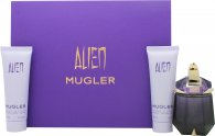 Thierry Mugler Alien Gift Set 30ml EDP Refillable + 50ml Body Lotion + 50ml Dusch Gel
