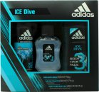 Adidas Ice Dive Gift Set 50ml EDT + 250ml Shower Gel + 150ml Deodorant Body Spray