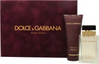 Dolce & Gabbana Pour Femme Gift Set 1.7oz (50ml) EDP + 3.4oz (100ml) Body Lotion