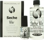 Seche Vite Professional Kit Set de Regalo 15ml Dry Fast Top Coat + 120ml Recargable