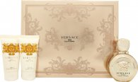 Versace Eros Pour Femme Gavesett 50ml EDP + 50ml Body Lotion + 50ml Shower Gel