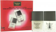 Butter London Nail 999 Rescue System Gift Set 0.4oz (11ml) Topcoat + 0.4oz (11ml) Basecoat