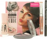 Bourjois Everyday Chic Gift Set Eyeshadow Trio + 3D Lip Gloss + Nail Polish + Eyeliner