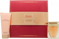 Cartier La Panthere Gift Set 50ml EDP + 100ml Body Lotion