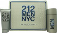 Carolina Herrera 212 Men Gift Set 100ml EDT + 100ml Shower Gel