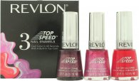 Revlon Top Speed Nail Enamels Gift Set 3 x 14.7ml (Orchid - Fire - Sugar Plum)