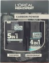L'Oreal Paris Men Expert The Carbon Power Gift Set 300ml 5in1 Shower Gel + 150ml Anti-Perspirant Spray