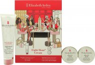 Elizabeth Arden Eight Hour Cream Gift Set 50ml Skin Protectant + 2x 14ml Lip Protectant