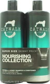 Tigi Duo Verpakking Catwalk Oatmeal & Honey 750ml Shampoo + 750ml Crèmespoeling