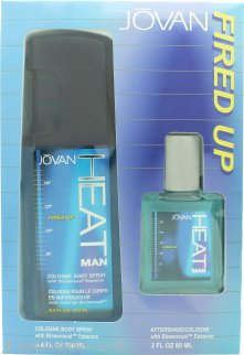 Jovan Heat Fired Up Gift Set 60ml Aftershave + 250ml EDC Body Spray