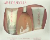 Instituto Español Aire de Sevilla Gift Set 150ml EDT Spray + 150ml Exfoliant Gel + 150ml Body Cream