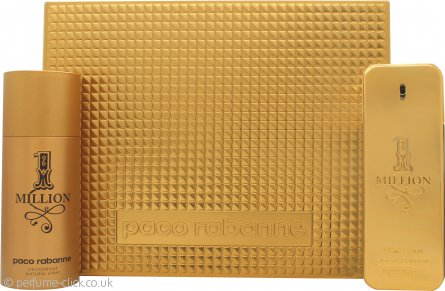 Paco Rabanne 1 Million Gift Set 100ml EDT + 150ml Deo Spray