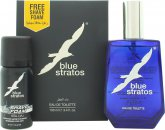 Parfums Bleu Limited Blue Stratos Gift Set 100ml EDT + 45ml Shave Foam