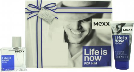 Mexx Life Is Now for Him Set de Regalo 30ml EDT + 50ml Gel de Ducha