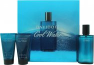 Davidoff Cool Water Gift Set 75ml Aftershave + 50ml Żel pod Prysznic + 50ml Balsam po Goleniu