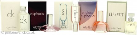 Calvin Klein Women Miniatures Gift Set 10ml CK1 EDT + 4ml Euphoria EDP + 10ml CK2 EDT + 5ml Endless Euphoria EDP + 5ml Eternity EDP