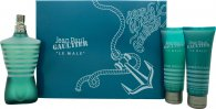 Jean Paul Gaultier Le Male Gift Set 125ml EDT + 75ml Shower Gel + 75ml Aftershave Balm