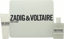 Zadig & Voltaire This is Her Geschenkset 50ml EDP + 75ml Bodylotion