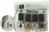 Seche Vite Seche French Manicure Kit Viaggio Confezione Regalo 2 x 3.8ml Smalto per Unghie + 3.8ml Top Coat + 3.8ml Base Coat + Lima Unghie + Guida per i Bordi