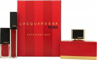 Fendi L'Acquarossa Gift Set 50ml EDP + Red Lipgloss + Red Nail Polish