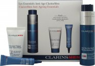 Clarins Men Gift Set 50ml Gel Revitalizador + 30ml Gel Facial Activo + 10ml Ojos Serum Anti-Fatiga