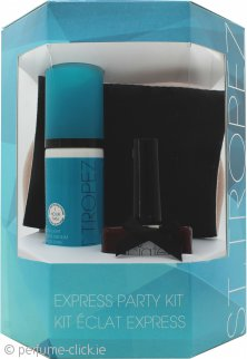 St.Tropez Express Party Kit Gift Set 50ml Express Bronzing Mousse + 13.5ml Nail Polish Ciate Gold + Tanning Mitt