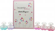 Salvatore Ferragamo Incanto Miniature Gift Set 5 x 5ml EDT (Dream + Charms + Heaven + Shine + Bloom)