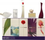 Kenzo Miniatures for Women Gift Set 5ml L'eau Par EDT Splash + 4ml Amour EDP Splash + 3.5ml Parfum d'Ete EDP Splash + 4ml Flower EDP Splash + 5ml Jungle EDP Splash