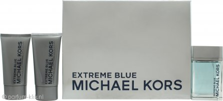 Michael Kors Extreme Blue Geschenkset 120ml EDT + 75ml Aftershave Balsem + 75ml Douchegel