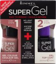 Rimmel Super Gel Set de Regalo 12ml Esmalte de Uñas 012 Soul Session + 12ml Capa de Acabado