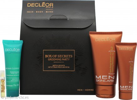 Decleor Box Of Secrets Grooming Party Men Skincare Set de Regalo - 4 Piezas
