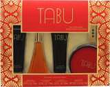 Dana Tabu Gift Set 2.5oz (75ml) EDC + 2.5oz (75ml) Body Lotion + 2.5oz (75ml) Body Wash + 52.5ml Dusting Powder