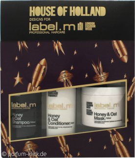 Label.m Honey & Oat Geschenkset 300ml Shampoo + 300ml Conditioner + 120ml Haarmaske