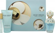 Marc Jacobs Daisy Dream Gift Set 100ml EDT Spray + 150ml Body Lotion + 10ml Rollerball