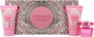 Versace Bright Crystal Absolu Gift Set 5ml EDP + 25ml Body Lotion + 25ml Shower Gel