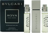 Bvlgari Aqva Pour Homme Confezione Regalo 3 x 15ml EDT Spray Ricaricabile