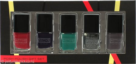 Active Cosmetics Posh Polish Gift Set 5 x 7ml Nail Polishes