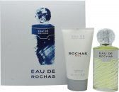 Rochas Eau de Rochas Gift Set 100ml EDT Spray + 150ml Body Lotion